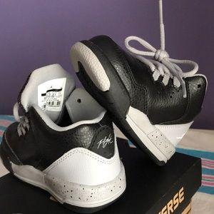 Jordan Flight Sneaks - Baby Sz 5C - Grey & Black